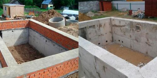 Фундамент своими руками и подвал. Строительство фундамента под дом с подвалом
