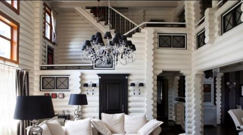 Современный интерьер в деревянном доме. Создаем стильный интерьер деревянного дома