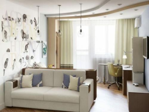 Дизайн 3-х комнатной квартиры п-44. Вариант 1
