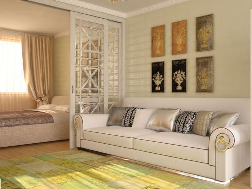 Как обставить однокомнатную квартиру 17 кв м. Современный дизайн спальни с гостиной 17 кв. м: особенности планировки