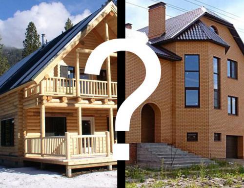 Сравнение деревянного дома и кирпичного. Деревянный или кирпичный дом строить? Сравните стоимость затрат при строительстве деревянного или кирпичного дома.