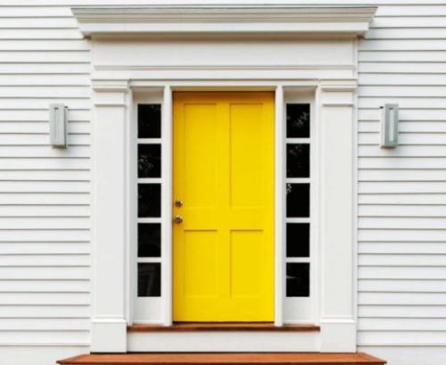 Дизайн входных дверей в частный дом. Входная дверь в дизайне фасада дома