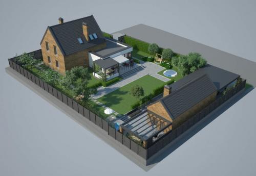 Ландшафтный дизайн участка с домом 8 соток. Выбор места под дом, баню, гараж