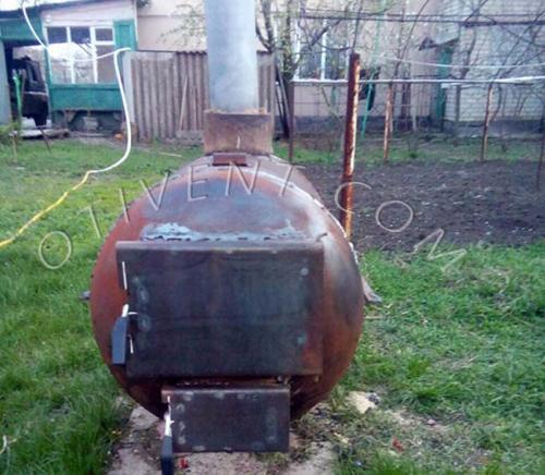 Печь для бани из трубы 530 горизонтальная. Выбор конструкции самодельной печки