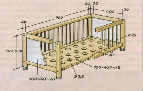 Детский кровать своими руками. Детская кроватка своими руками: мастер-класс с чертежами и фото